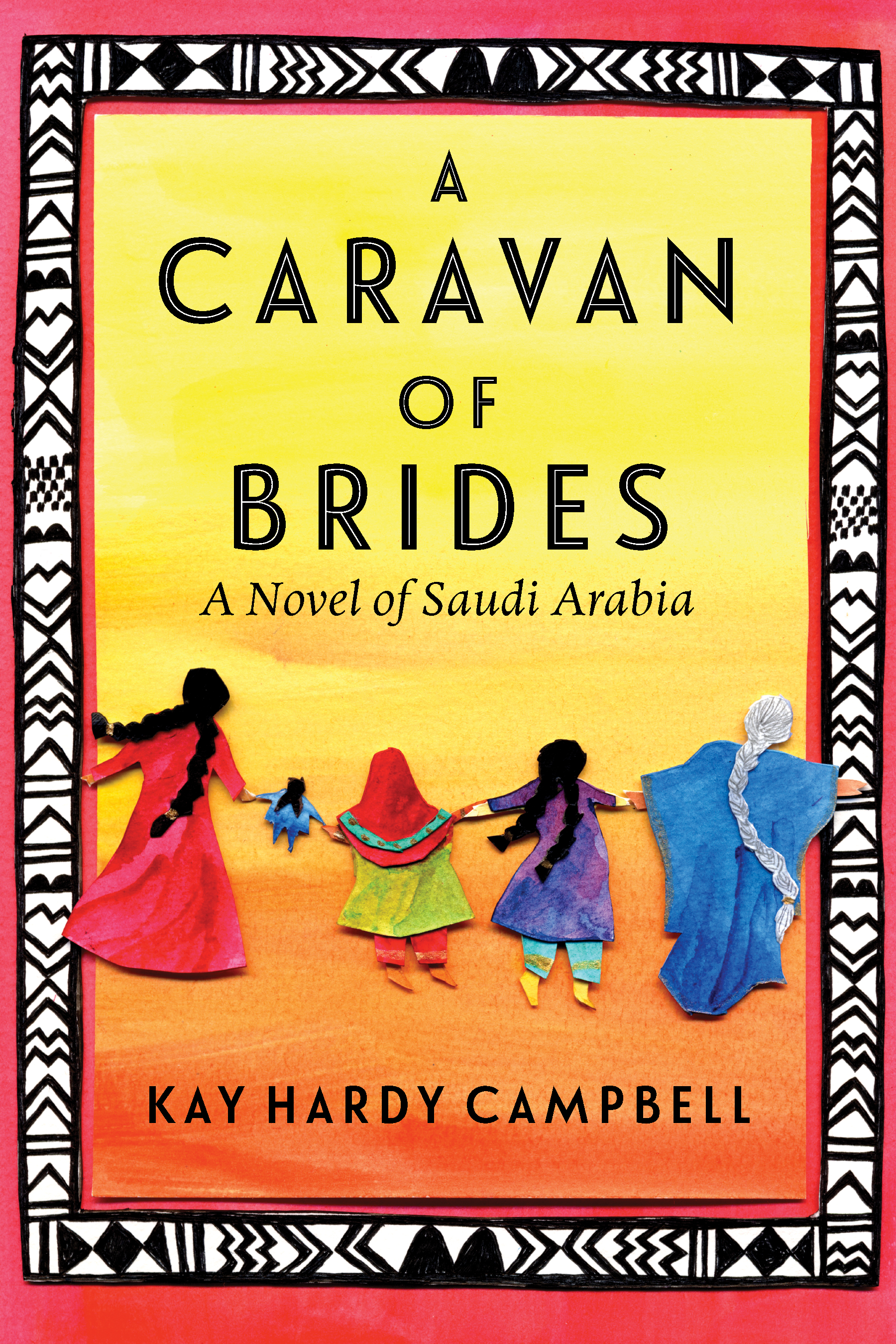 Book cover illustration for A Caravan of Brides