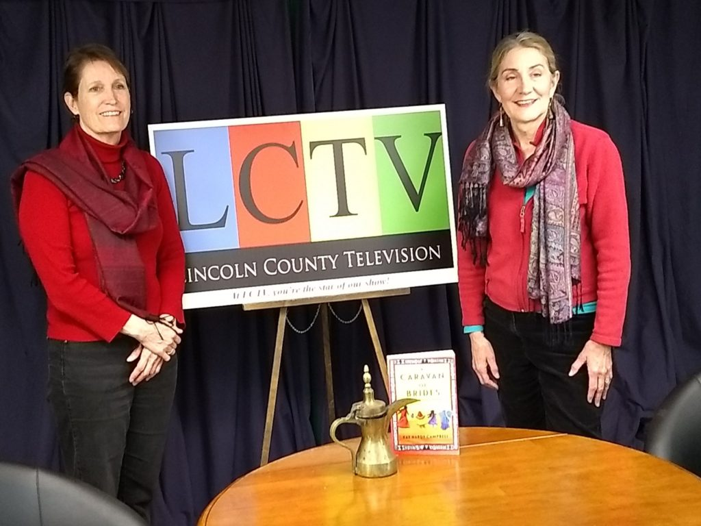 Abby Ingraham and Kay Hardy Campbell at LCTV's studio
