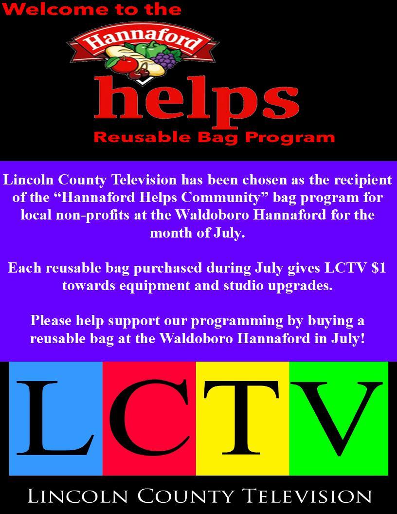 Waldoboro Hannaford 2018 Community Bag Program Bulletin